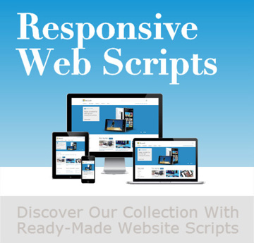 php responsive web scripts and software